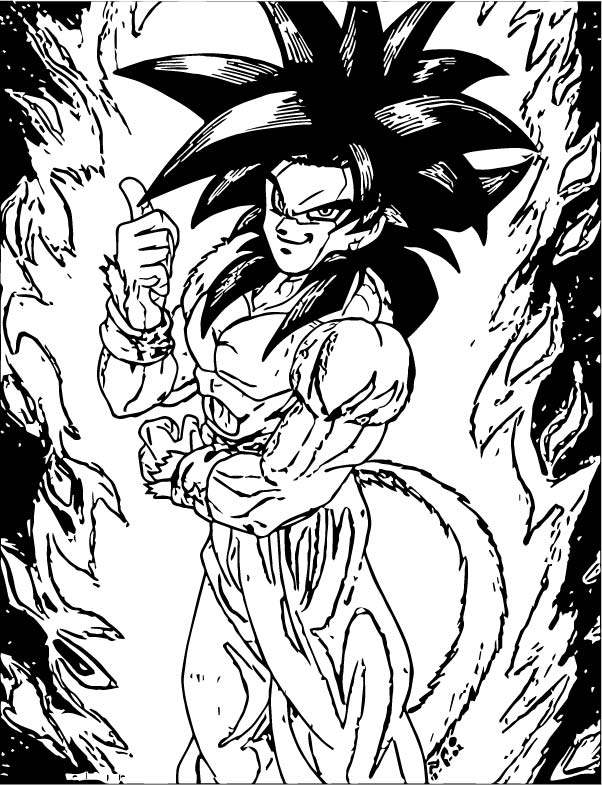 Goku We Coloring Page 424