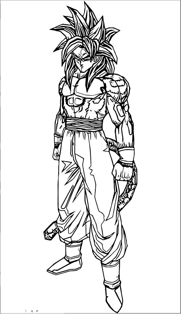 Goku We Coloring Page 432