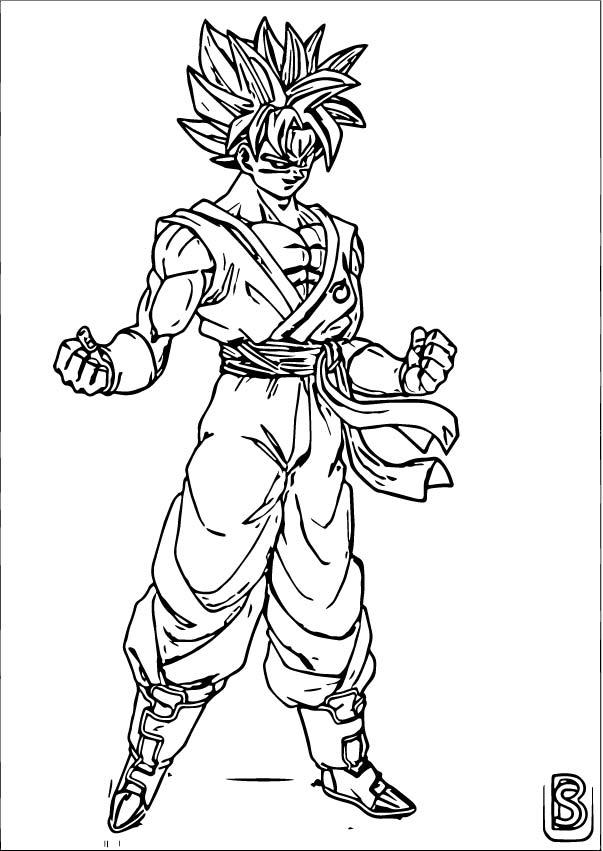 Goku We Coloring Page 435
