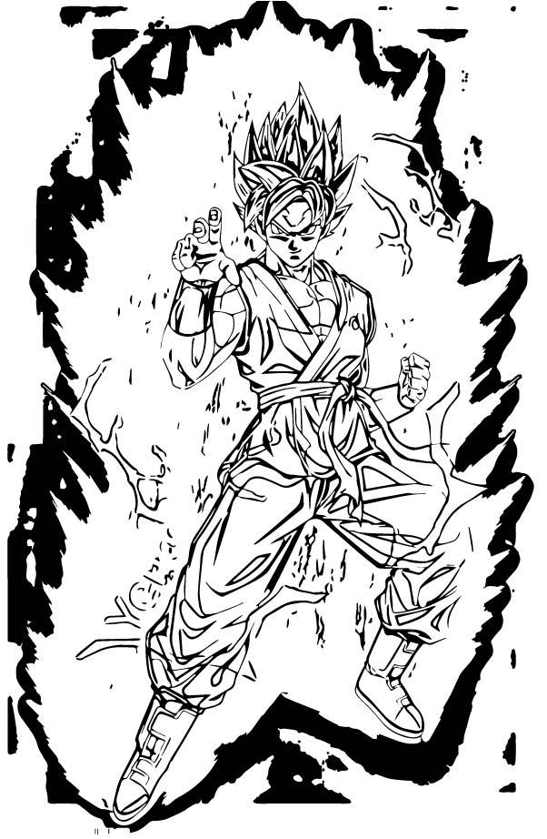 Goku We Coloring Page 436
