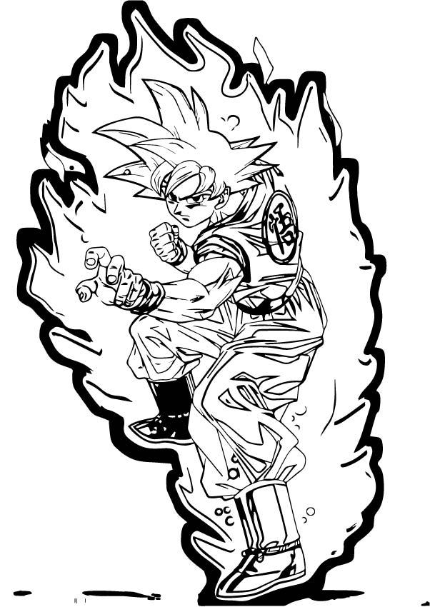 Goku We Coloring Page 437