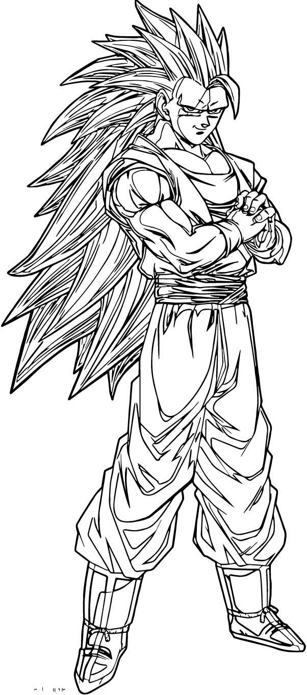 Goku We Coloring Page 439