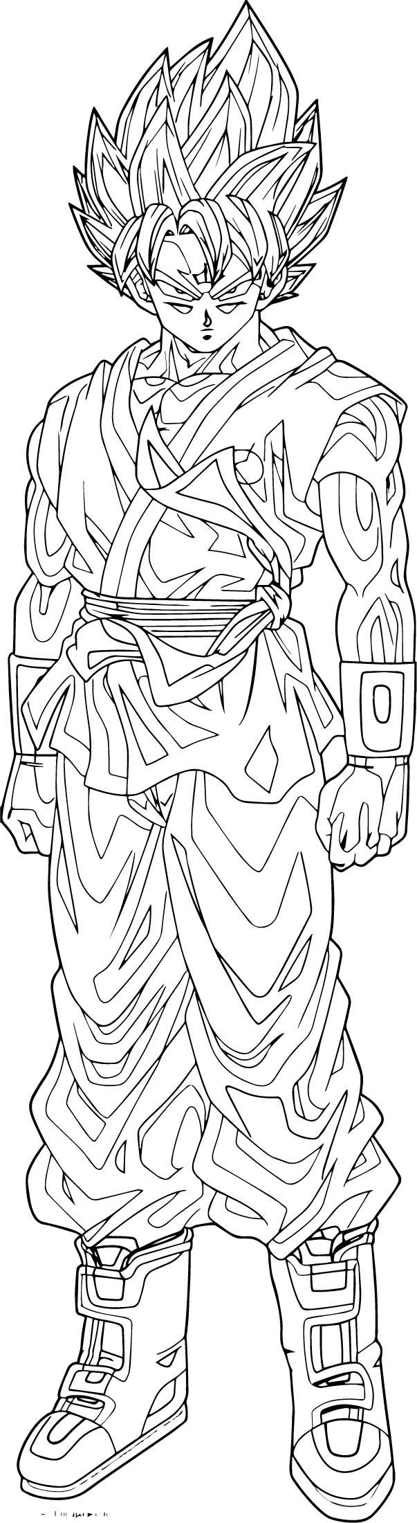 Goku We Coloring Page 440