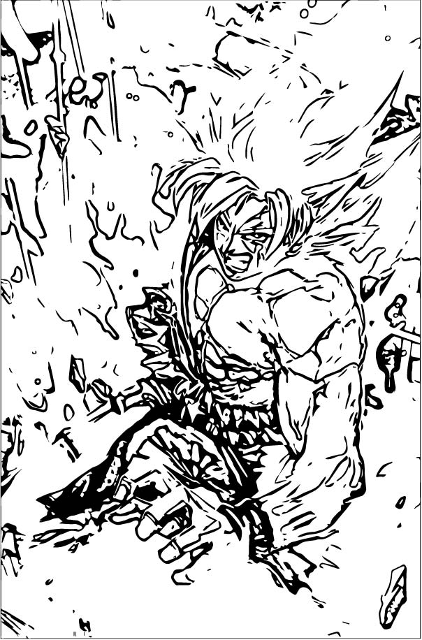 Goku We Coloring Page 441