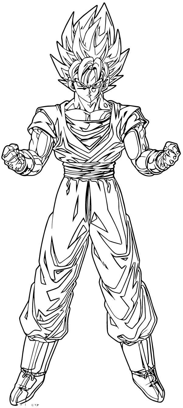 Goku We Coloring Page 442