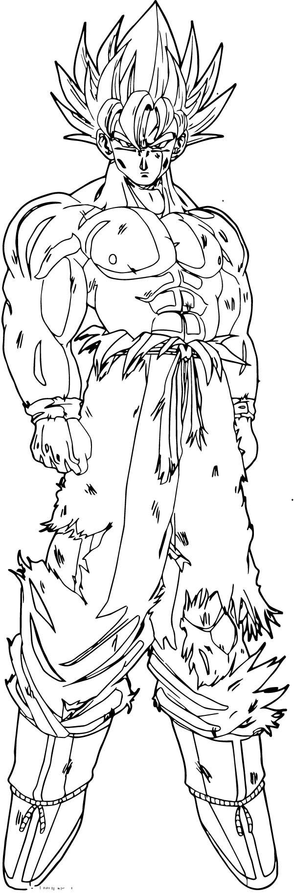 Goku We Coloring Page 443