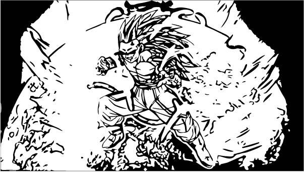 Goku We Coloring Page 448