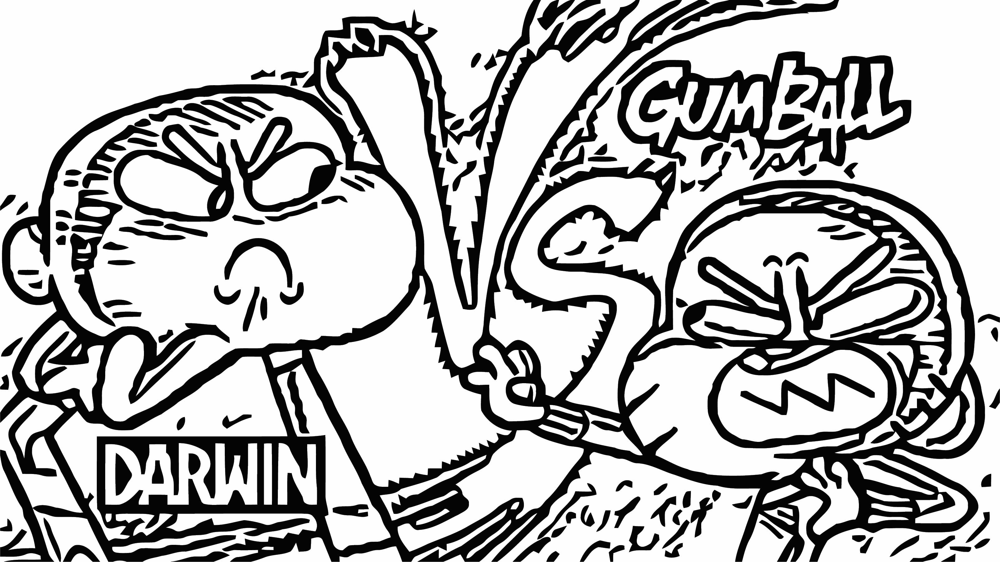 Gumball Vs Darwin Coloring Page