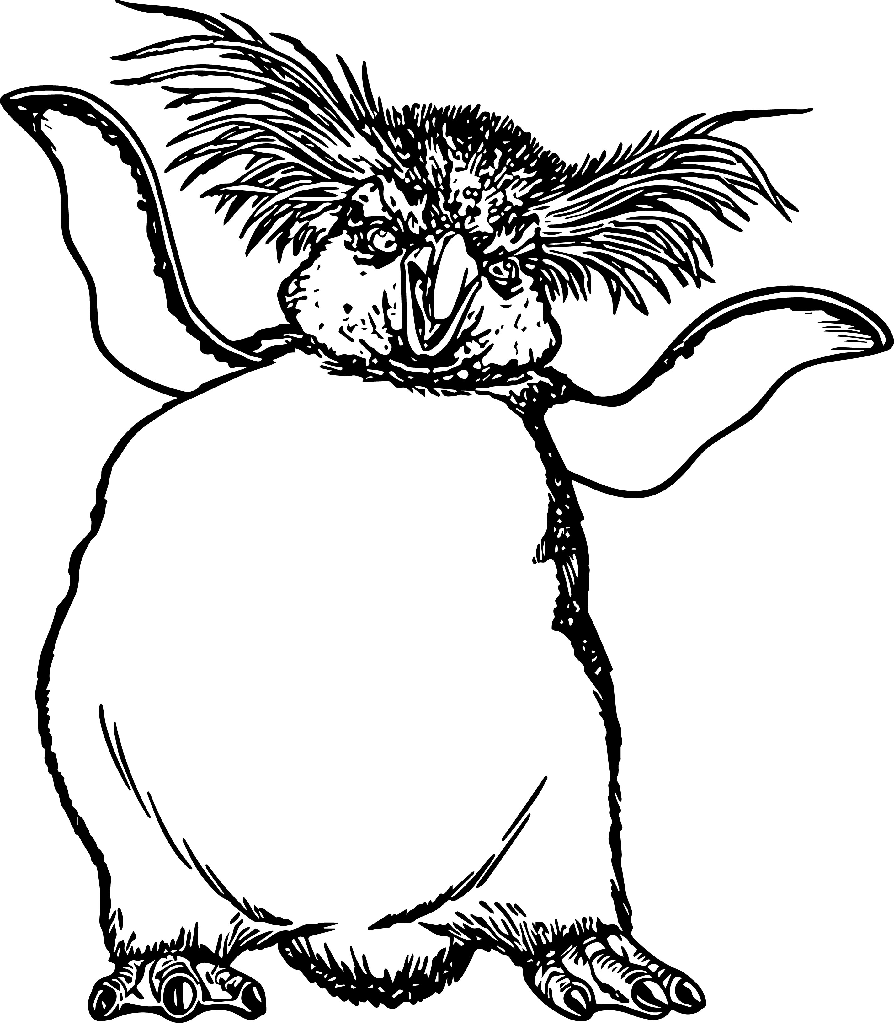 Happy Feet Penguin Lovelace Coloring Page