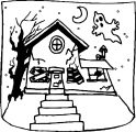 Haunted House 1 Coloring Page