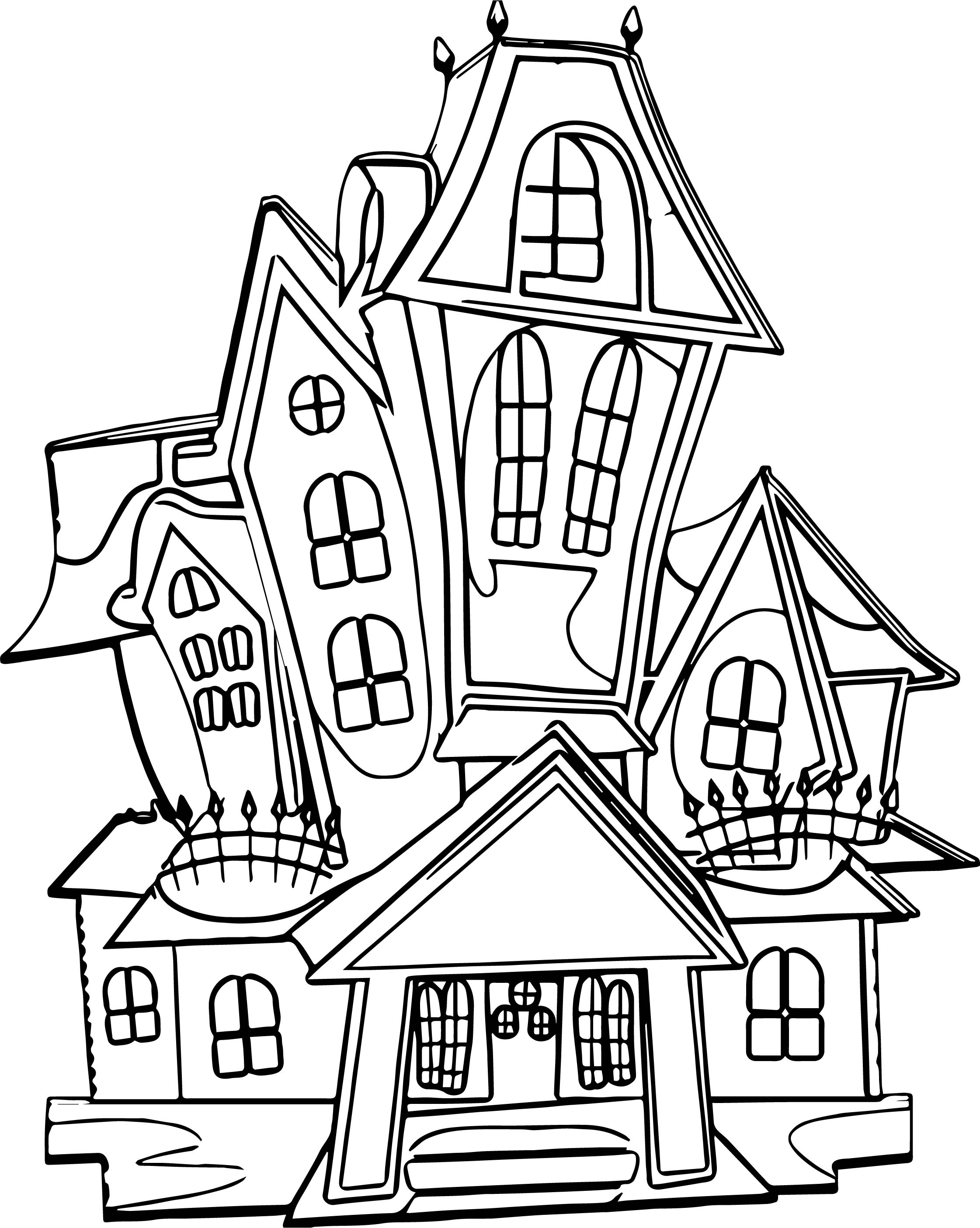Haunted House 9 Coloring Page