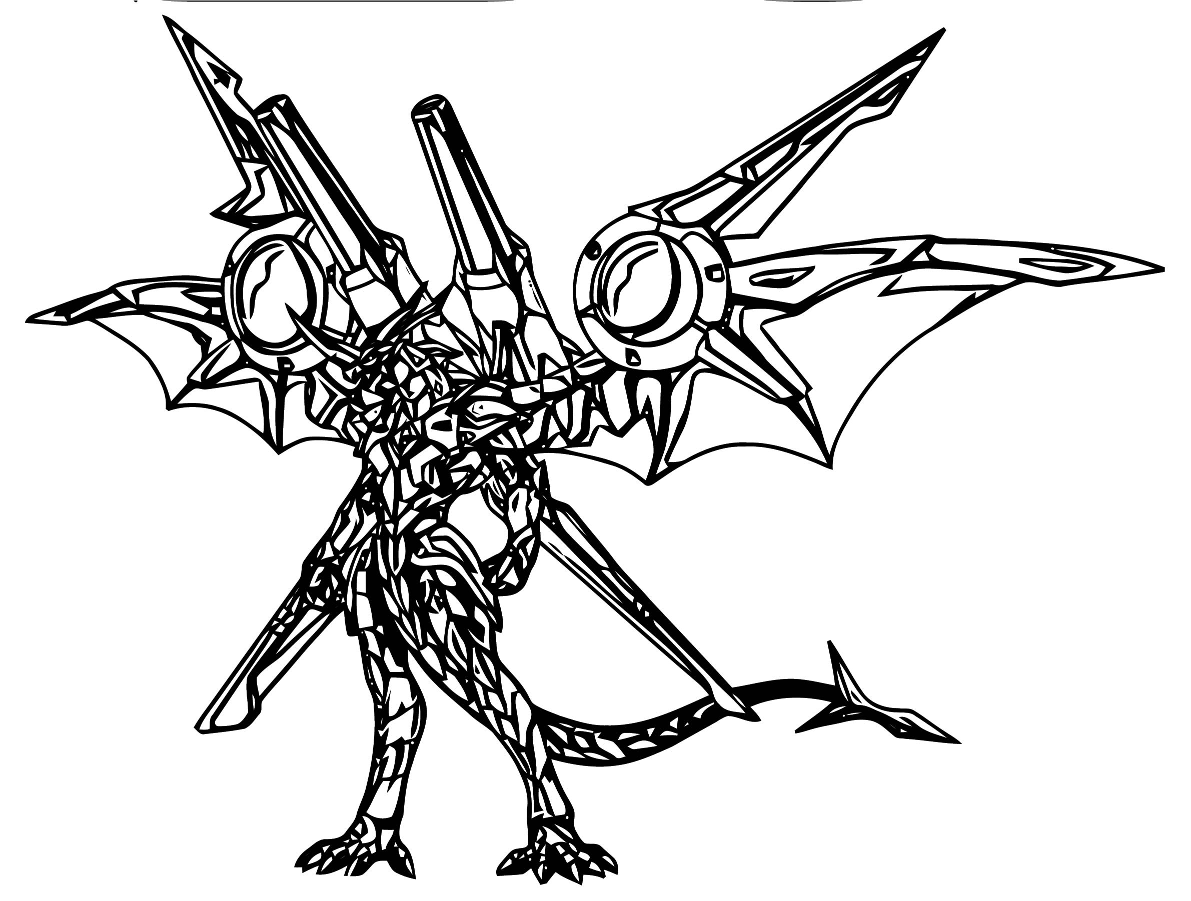 Helix Drago With Jetkor Coloring Page