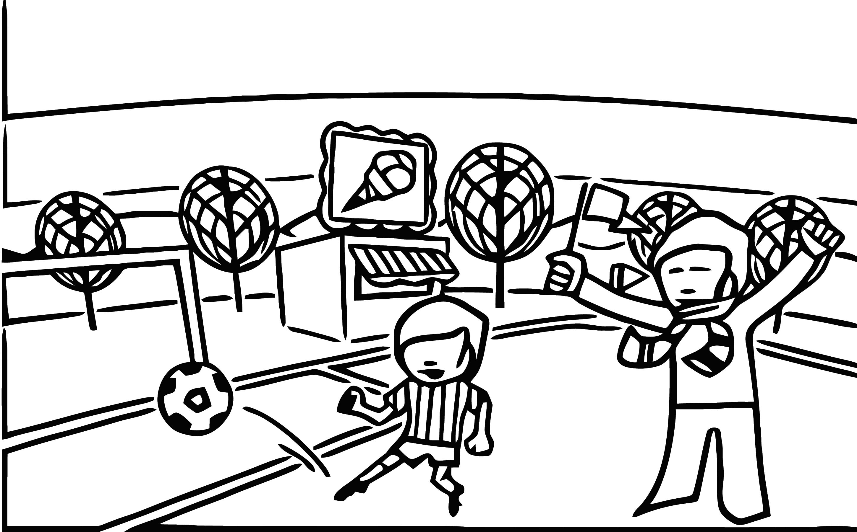 Hemglassfotb Cartoonize Coloring Page