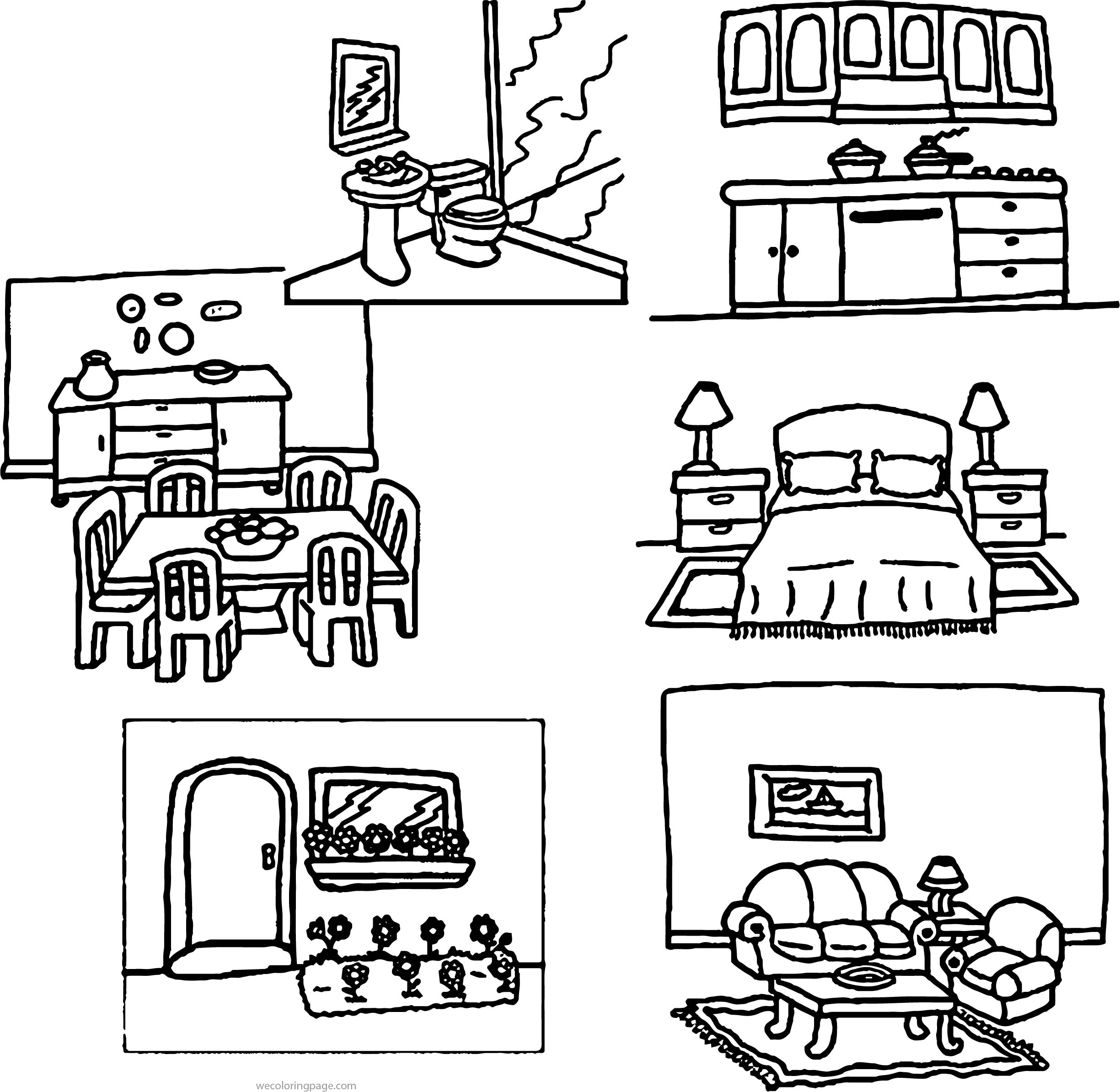 Home Inside Outside Coloring Page