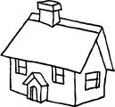 House Cartoon Free Coloring Page