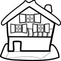 House Coloring Page 01