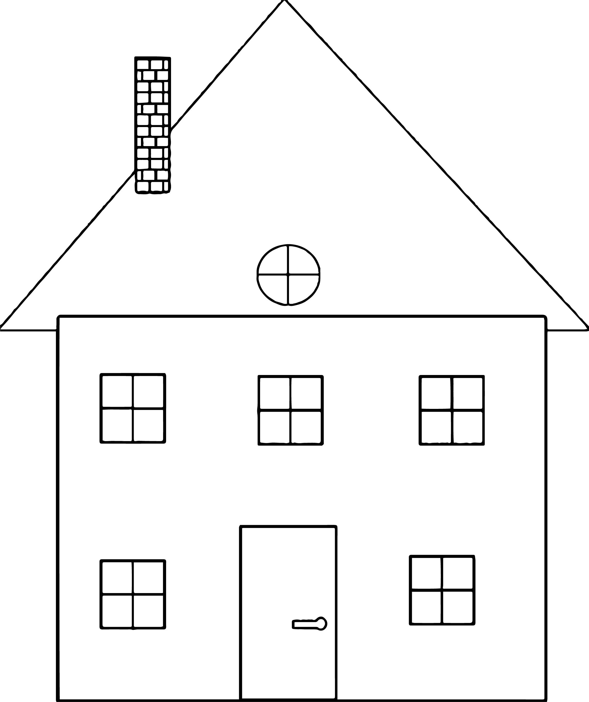 House Coloring Page 02