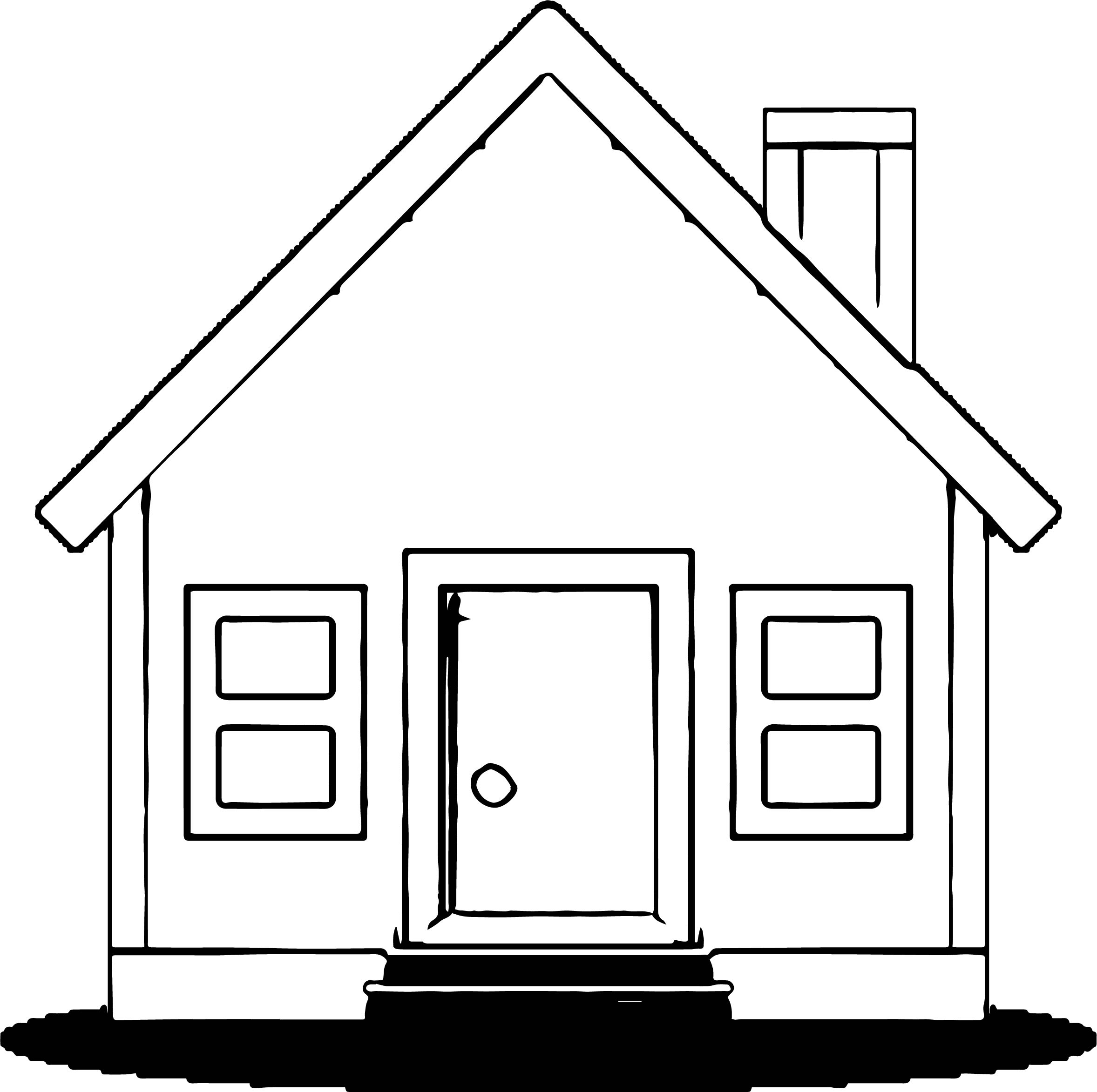 House Coloring Page 05