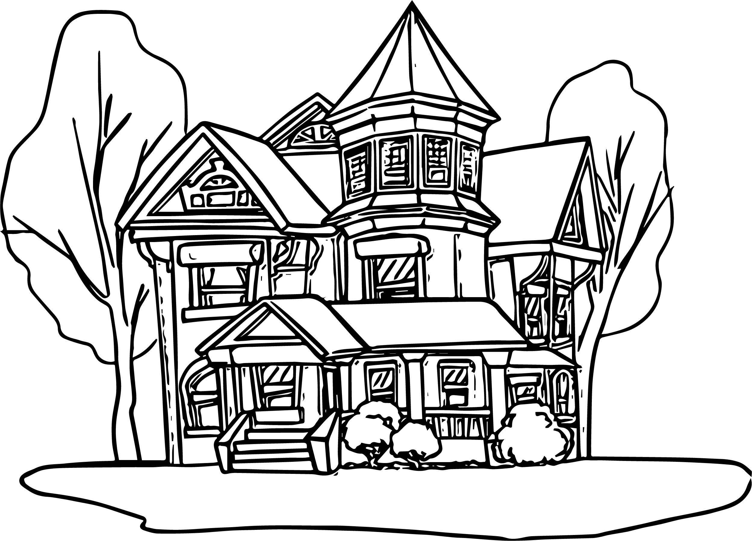 House Coloring Page 08