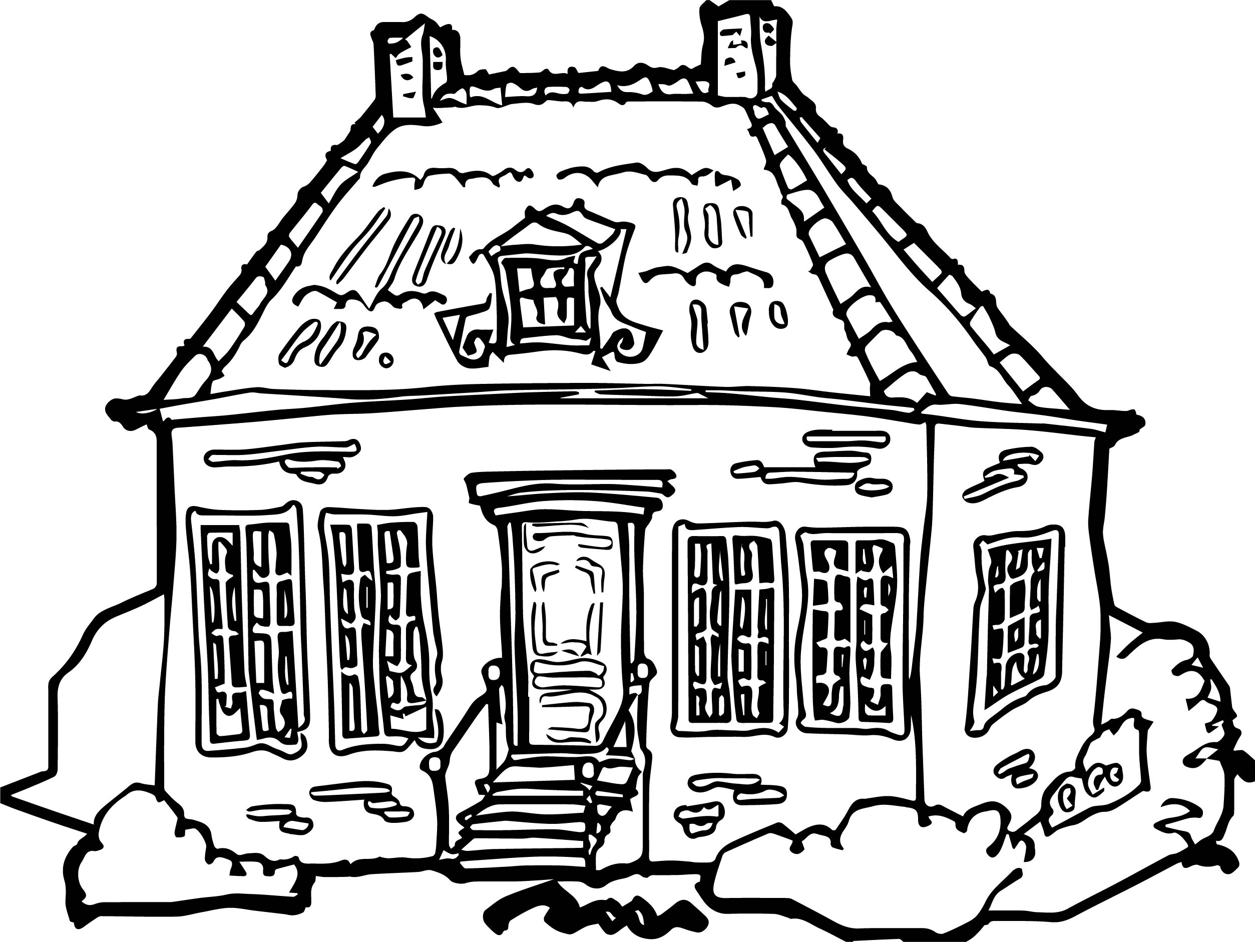 House Coloring Page 09