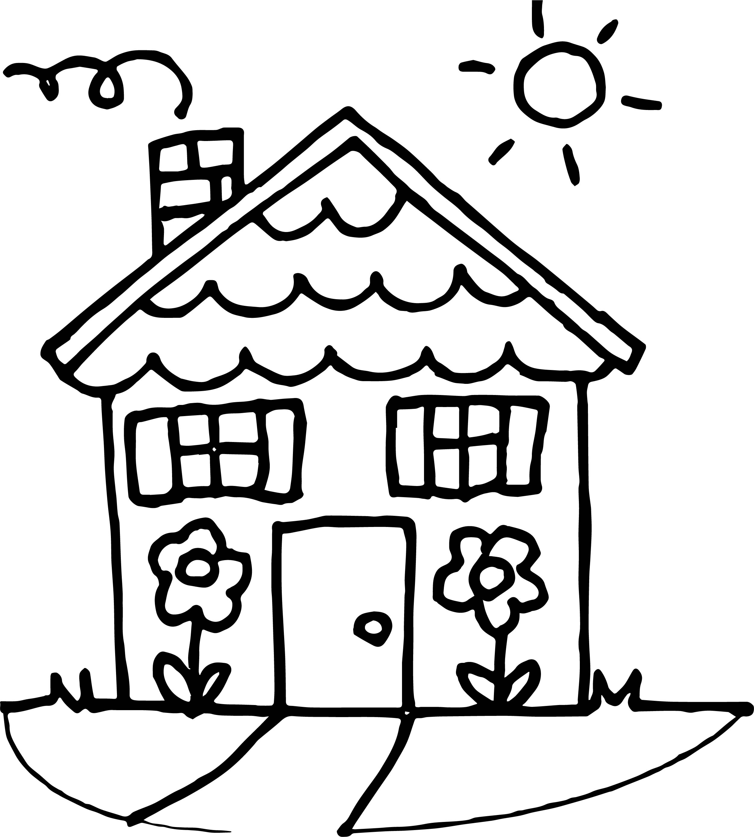 House Coloring Page 10