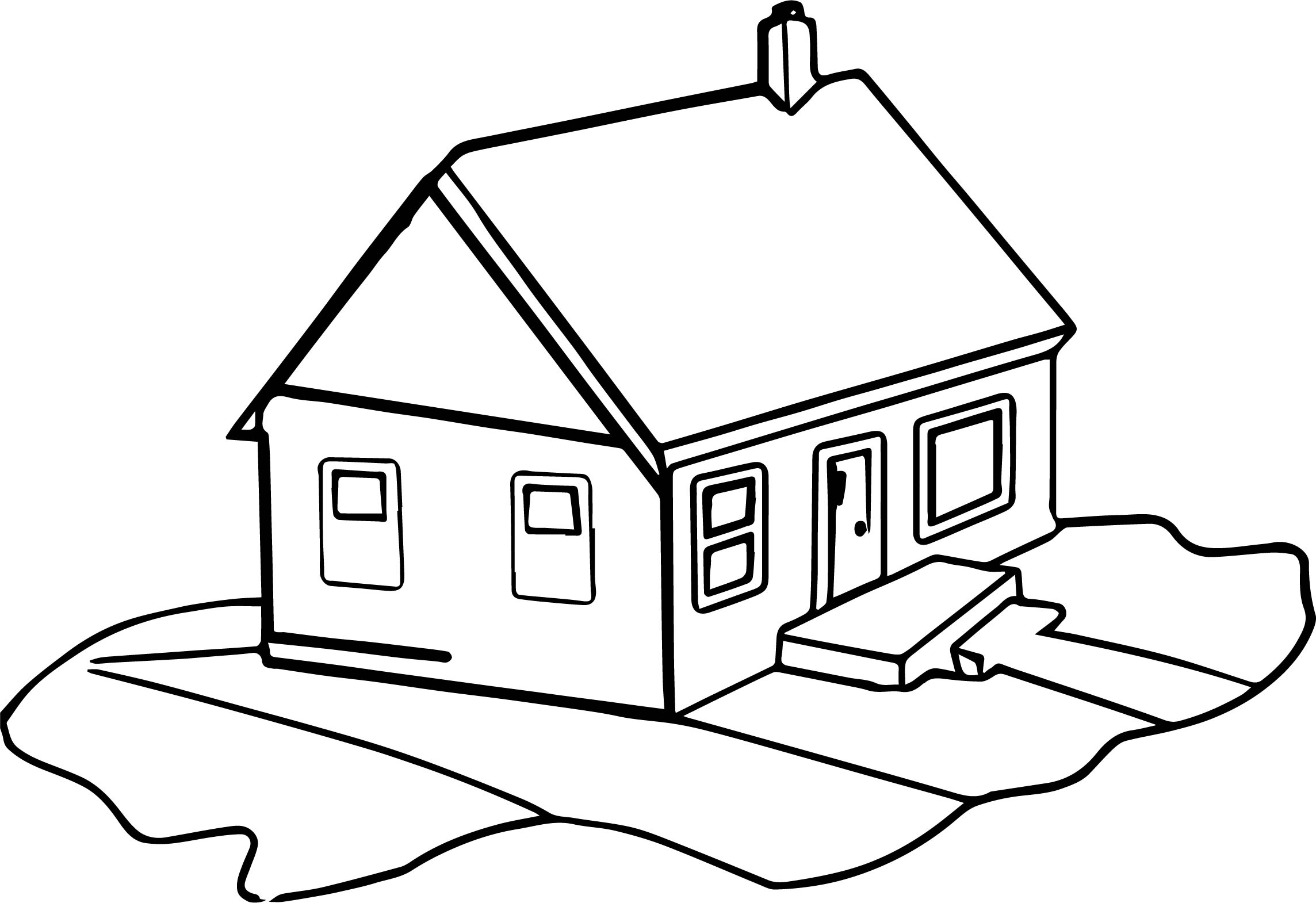 House Coloring Page 19