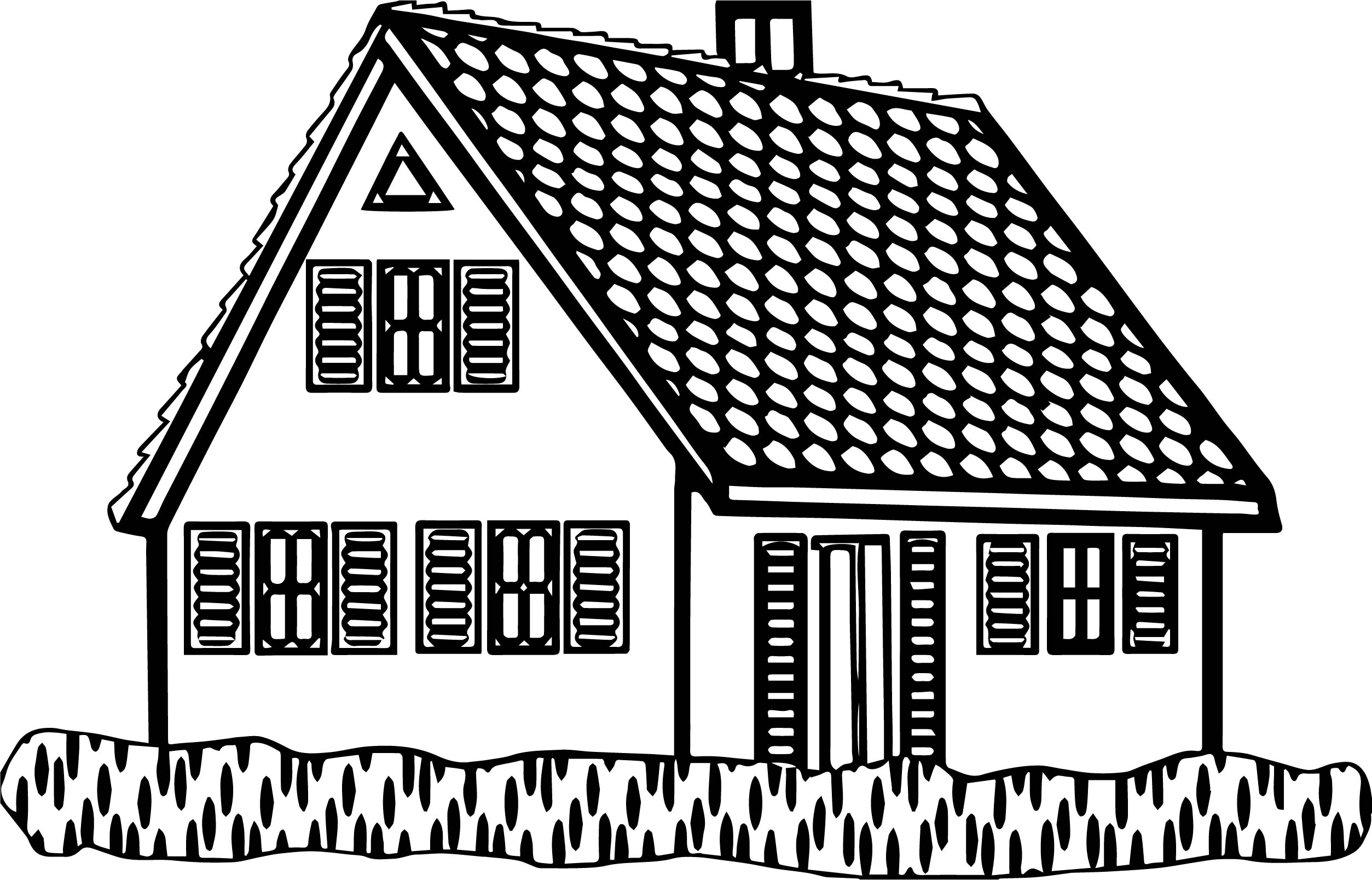 House Coloring Page 28