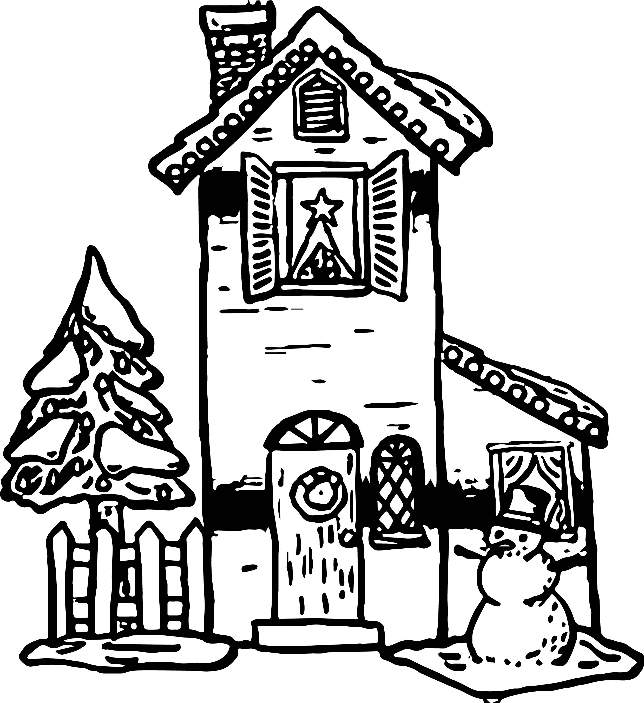 House Coloring Page 30