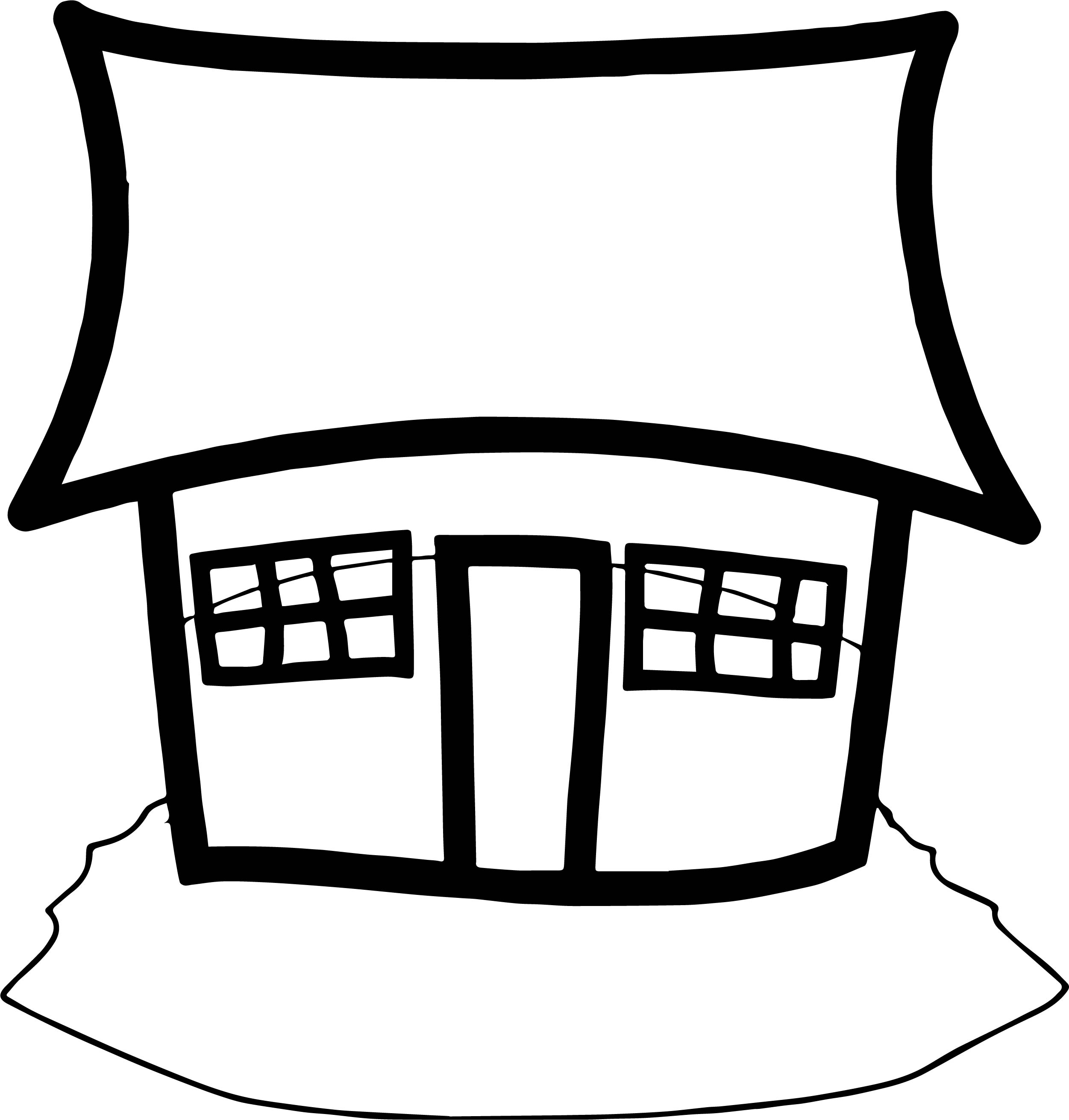 House Coloring Page 49