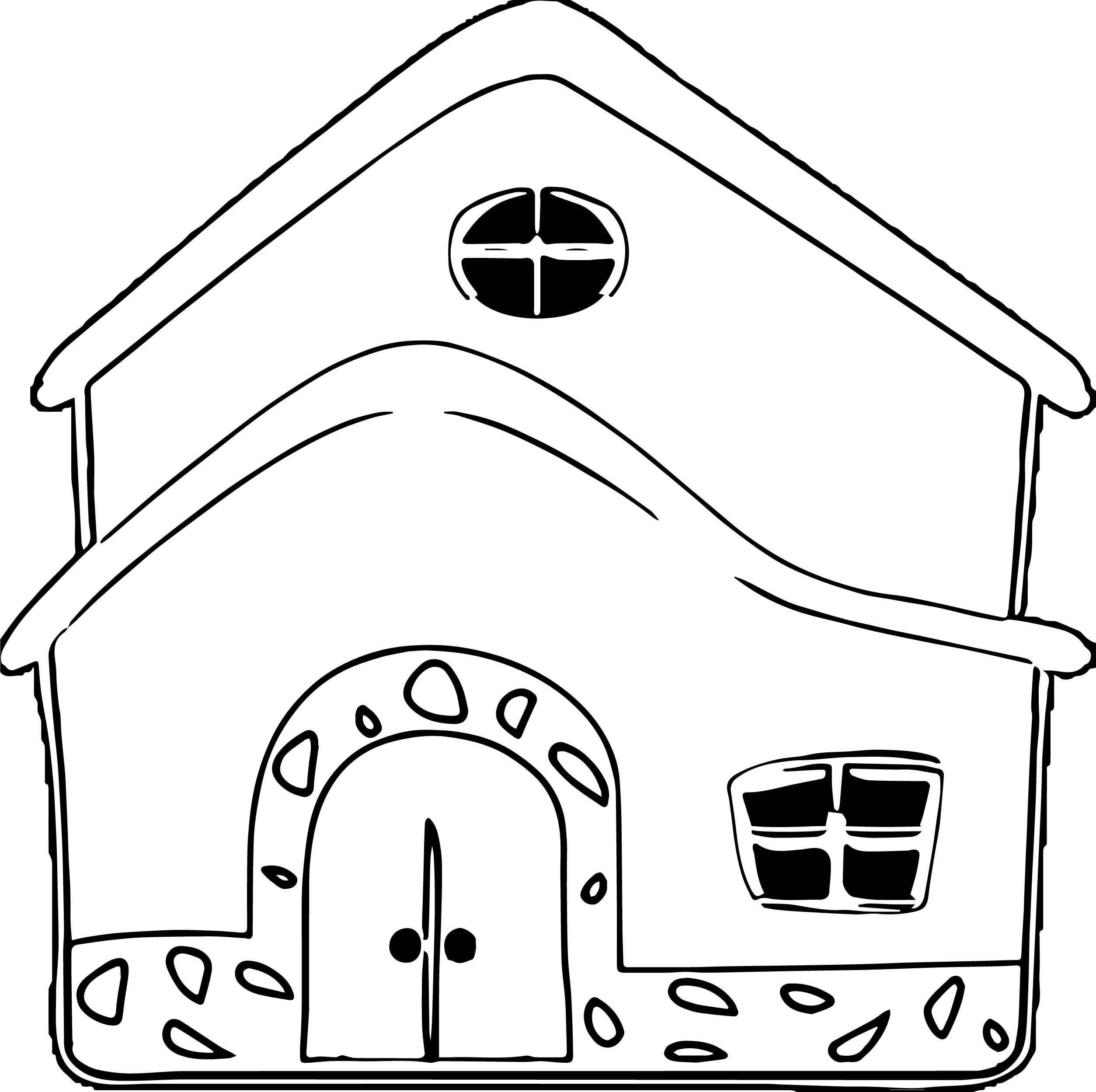 House Coloring Page 52