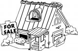 House For Sale Coloring Page