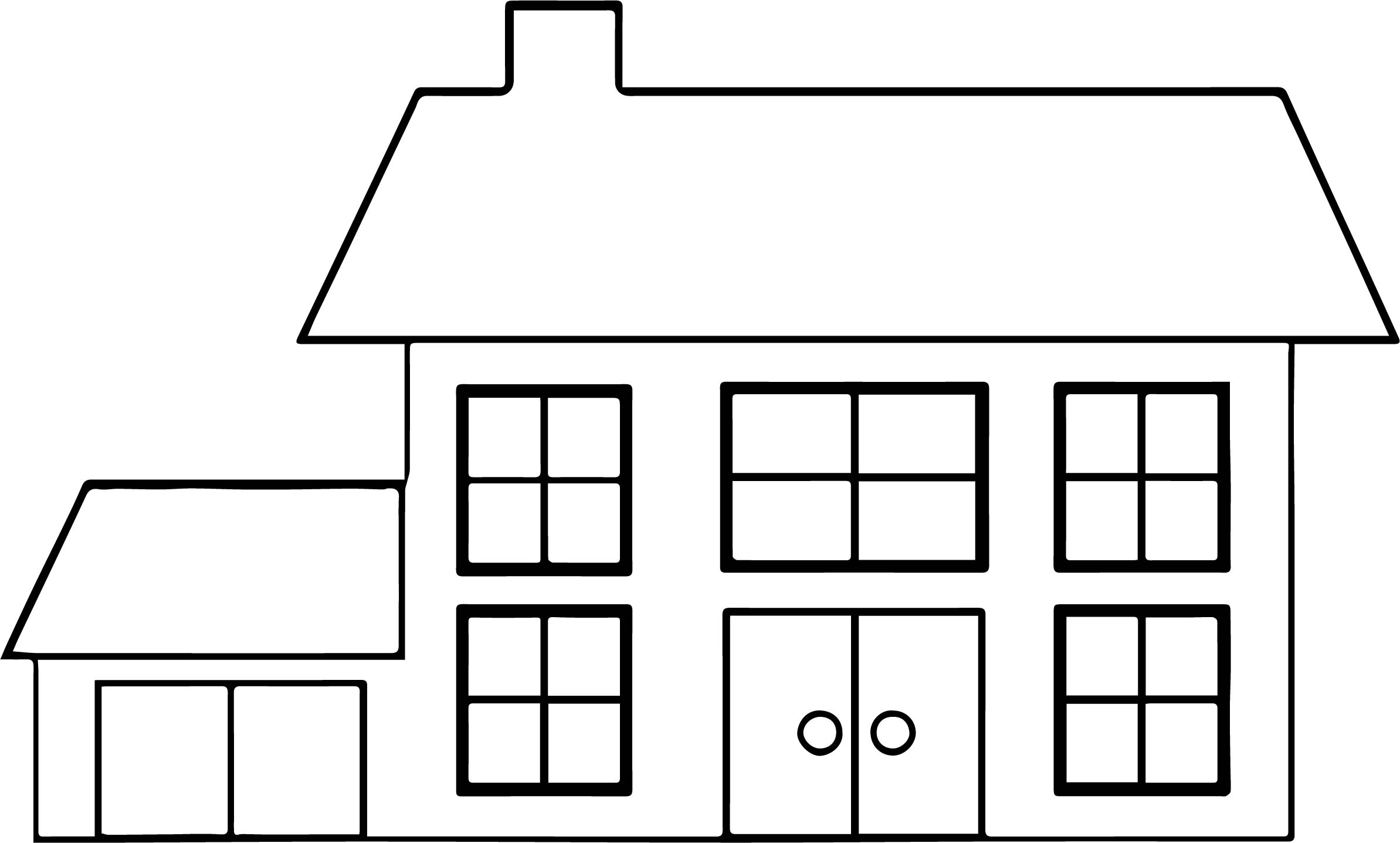 House Illustration Coloring Page