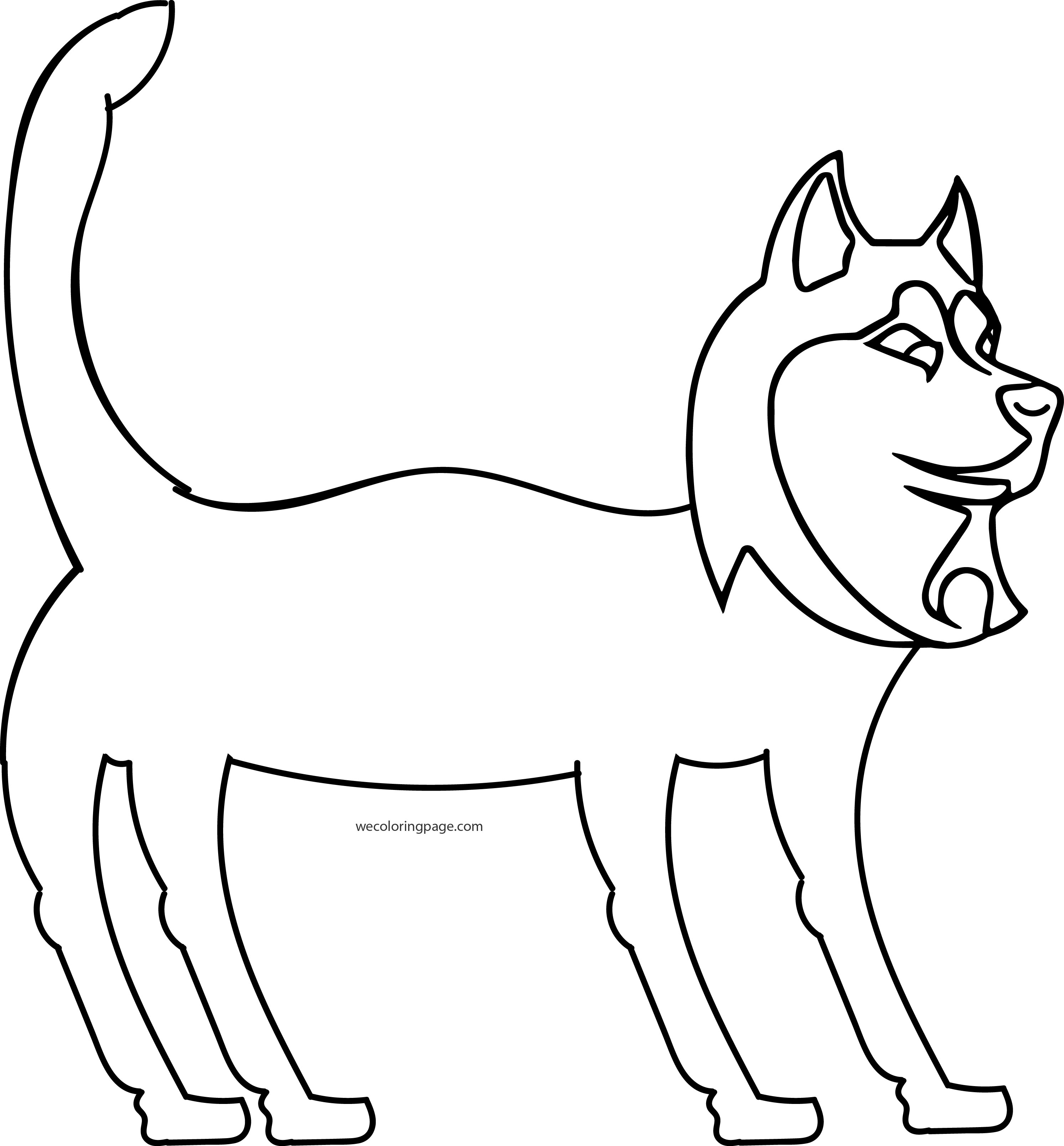 Husky 02 Coloring Page