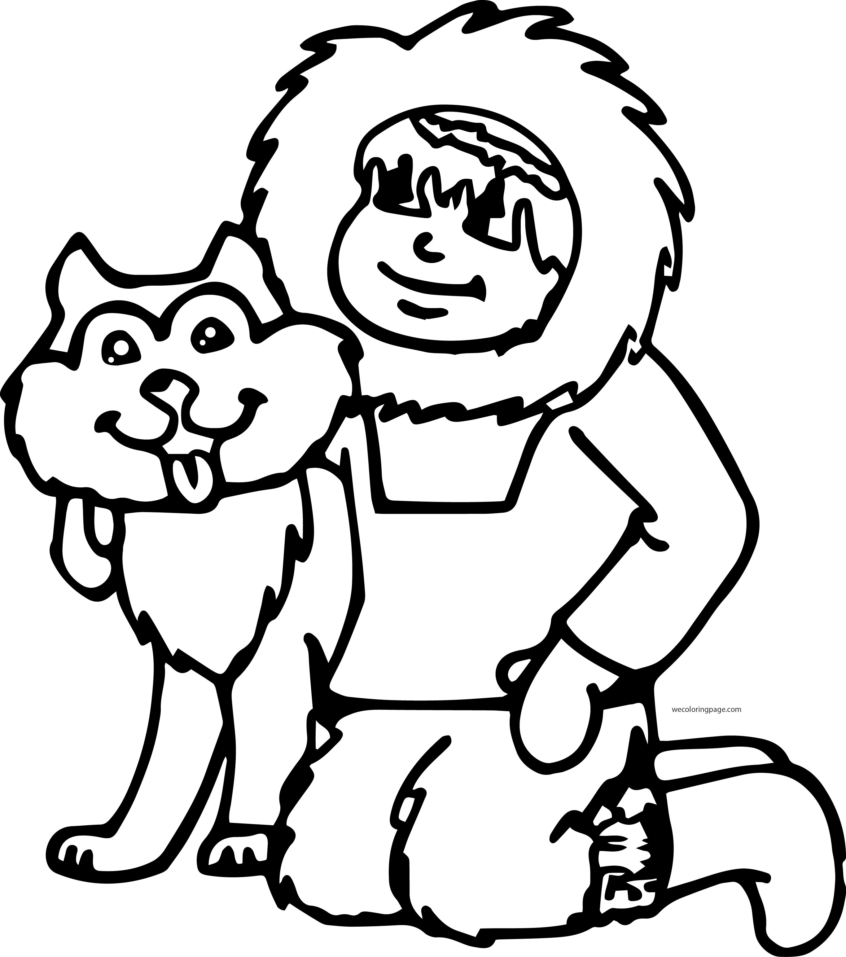 Husky 03 Coloring Page