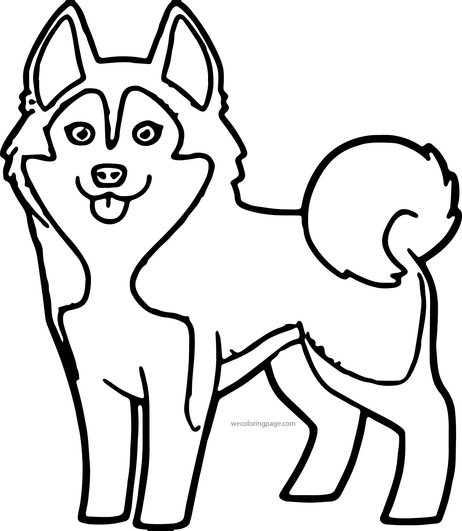 Husky 04 Coloring Page