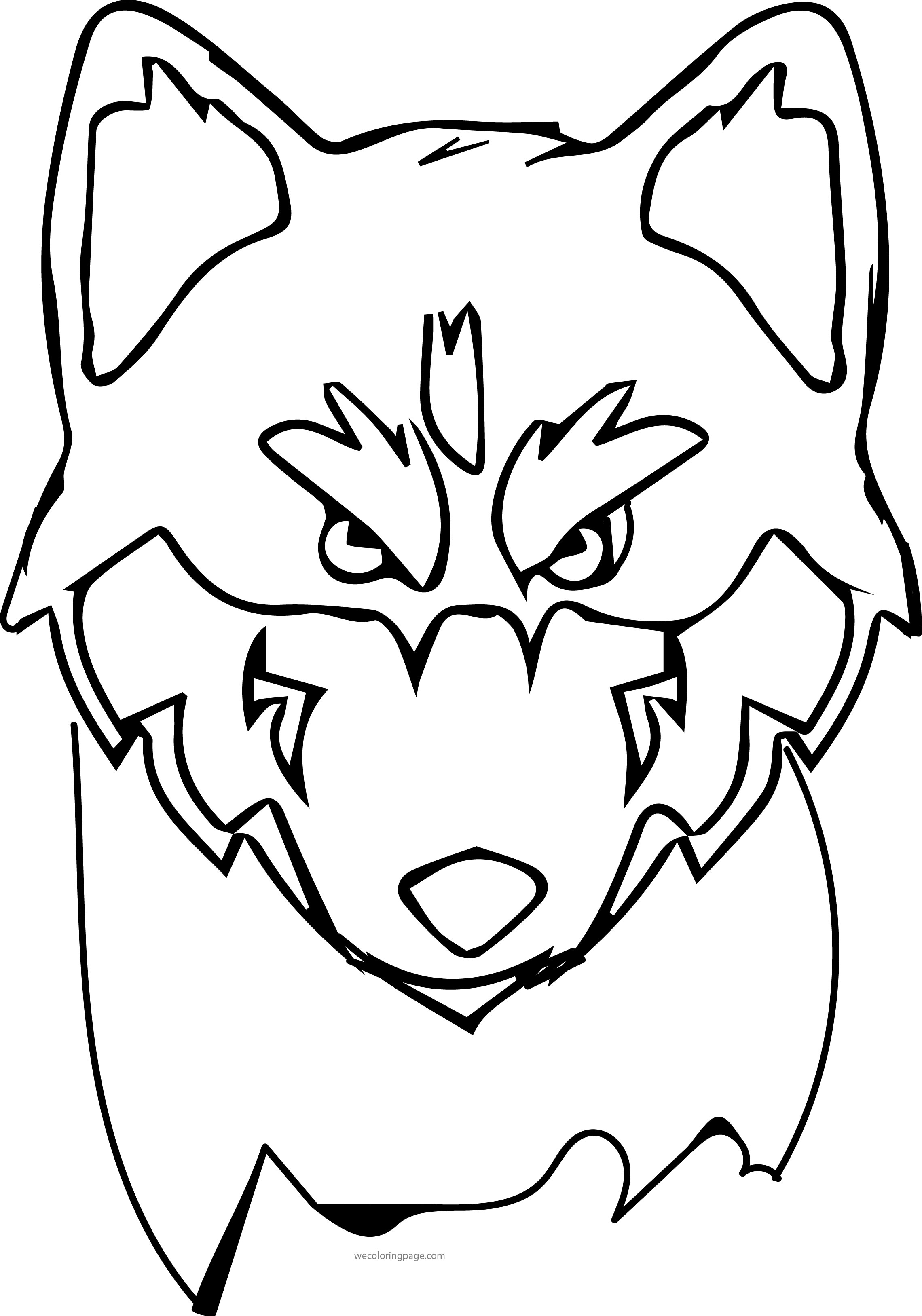 Husky 05 Coloring Page