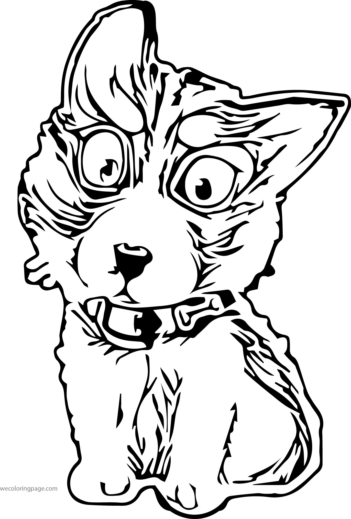 Husky 07 Coloring Page