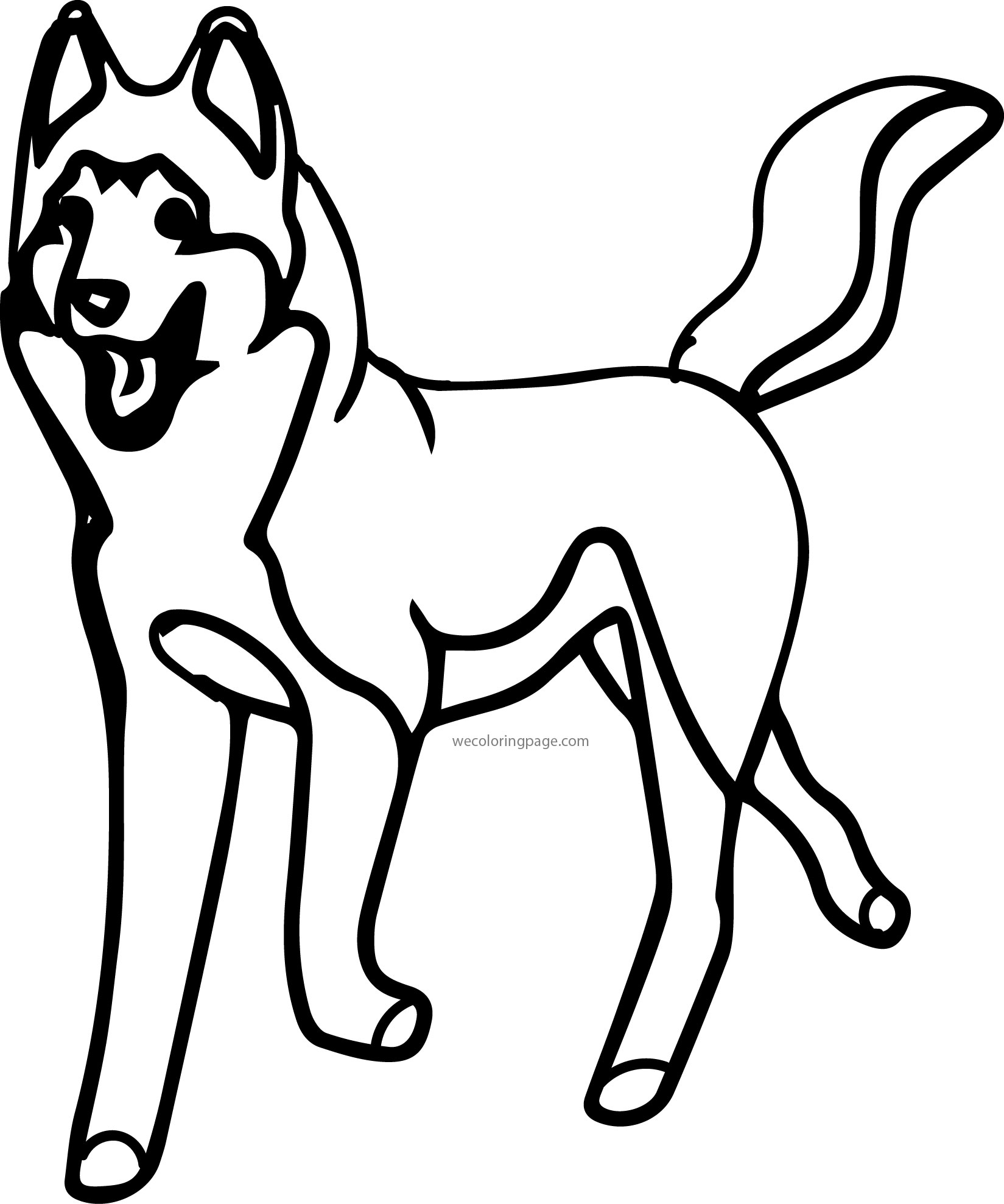 Husky 09 Coloring Page