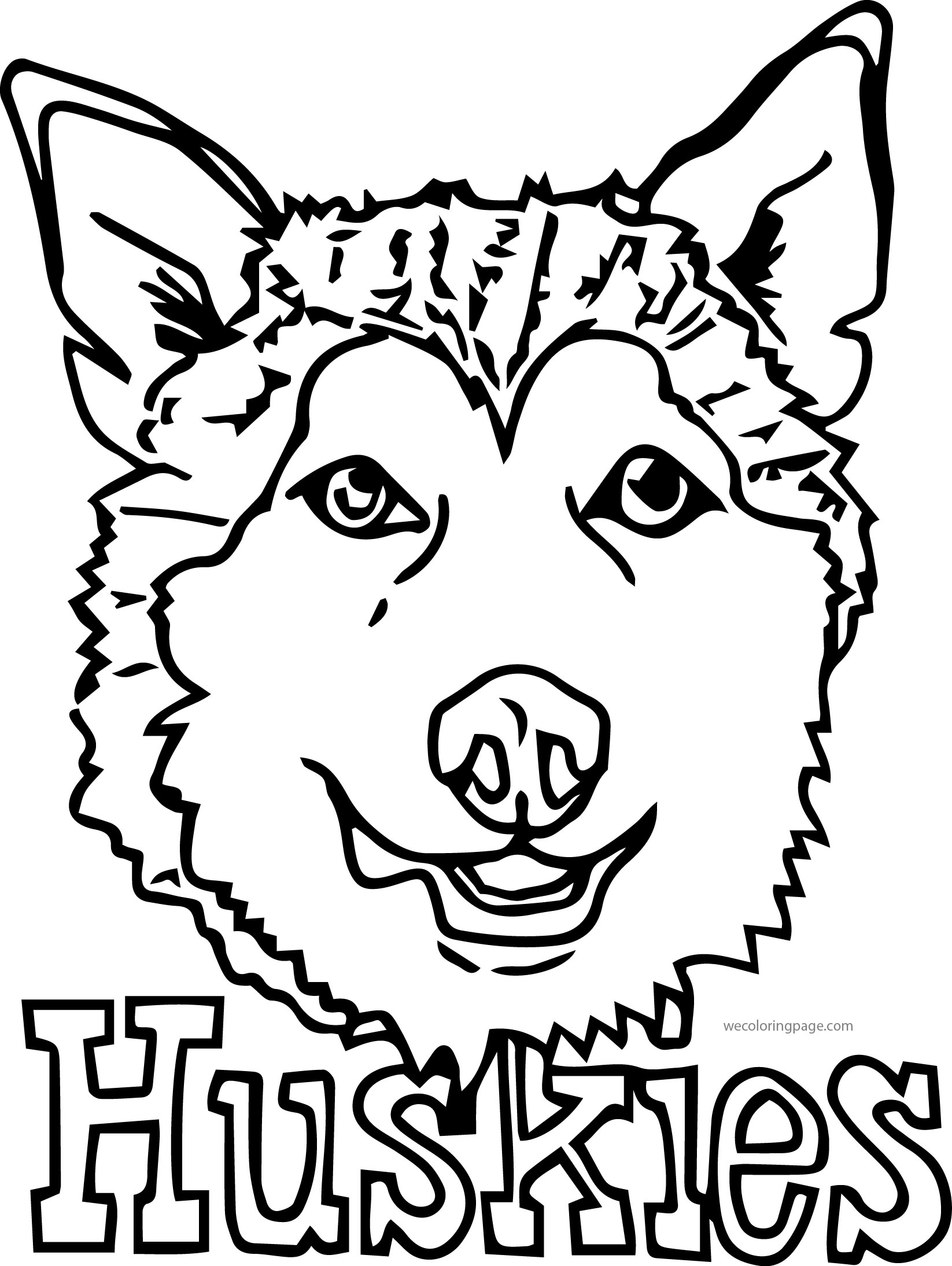 Husky 11 Coloring Page