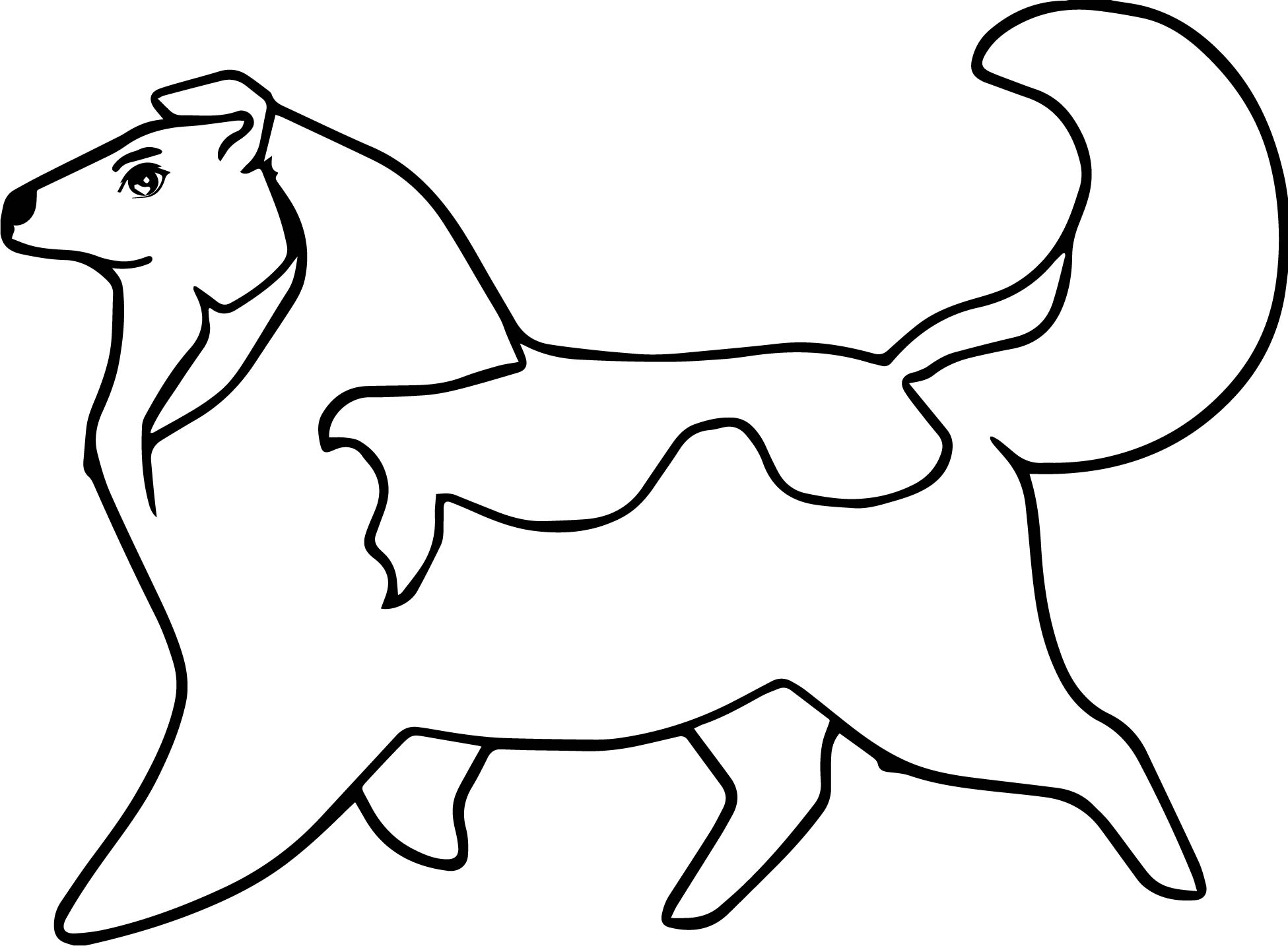 Husky 17 Coloring Page