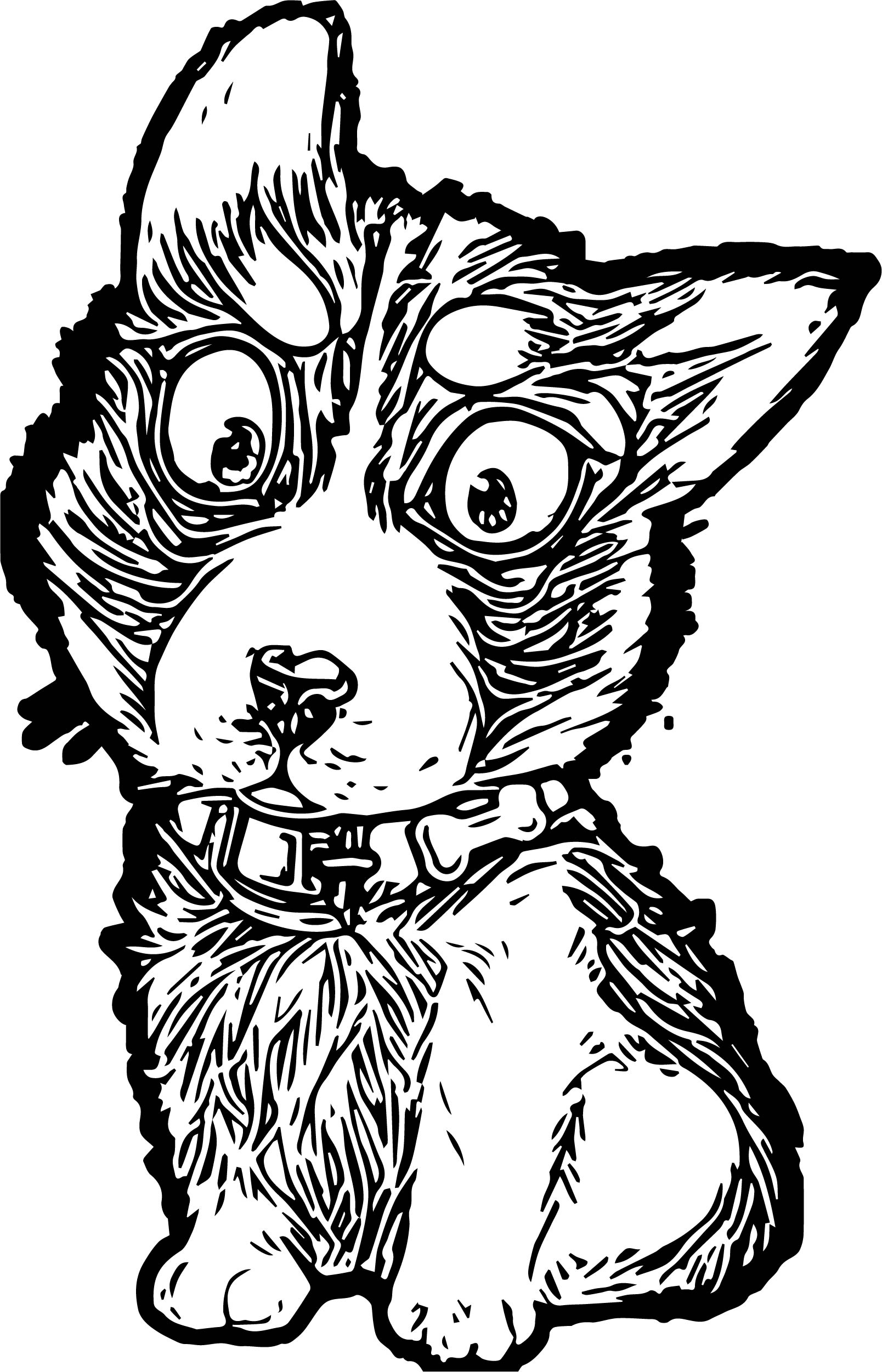 Husky Coloring Page 03