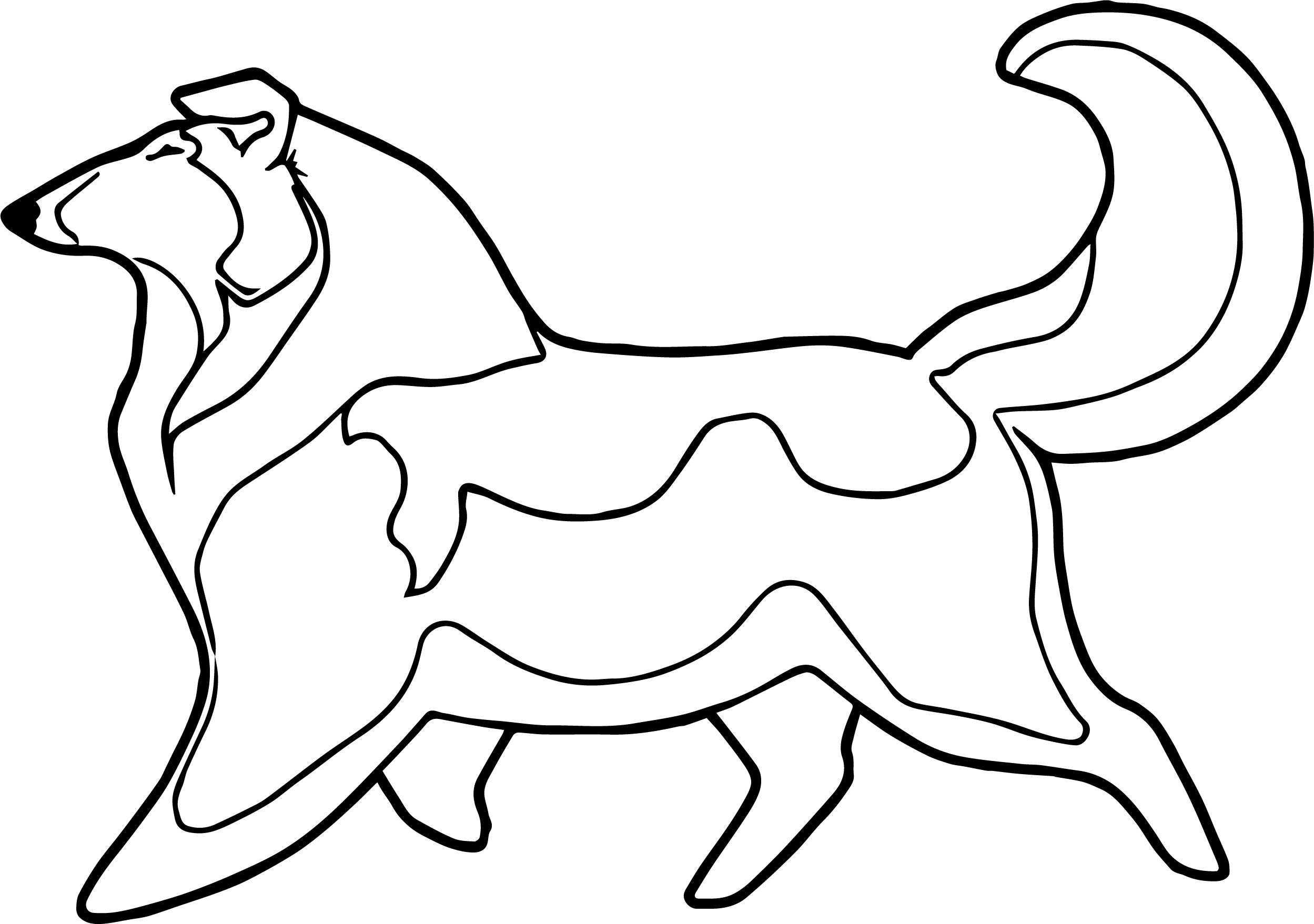 Husky Coloring Page 05