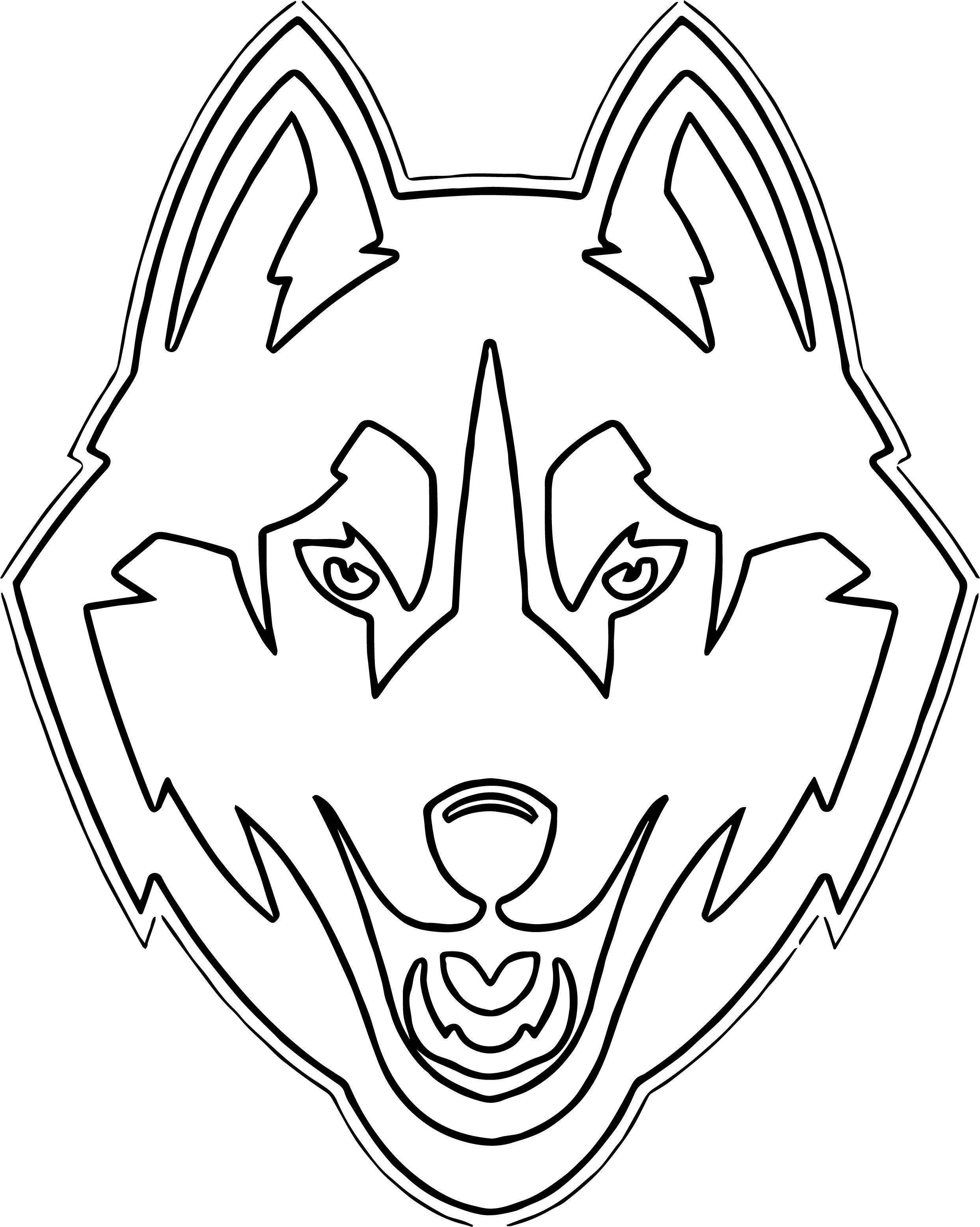 Husky Coloring Page 10