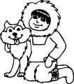 Husky Coloring Page 15
