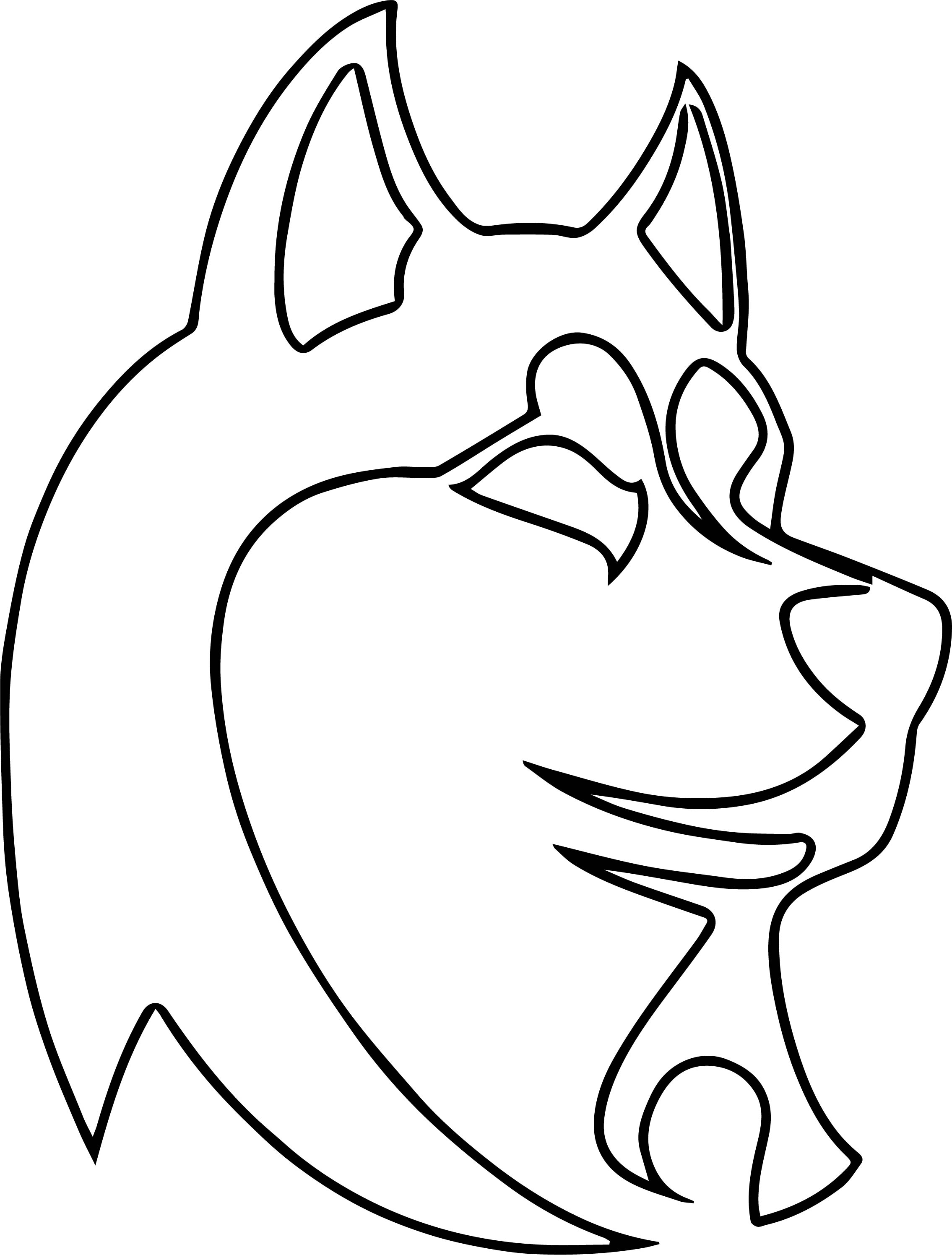 Husky Coloring Page 18