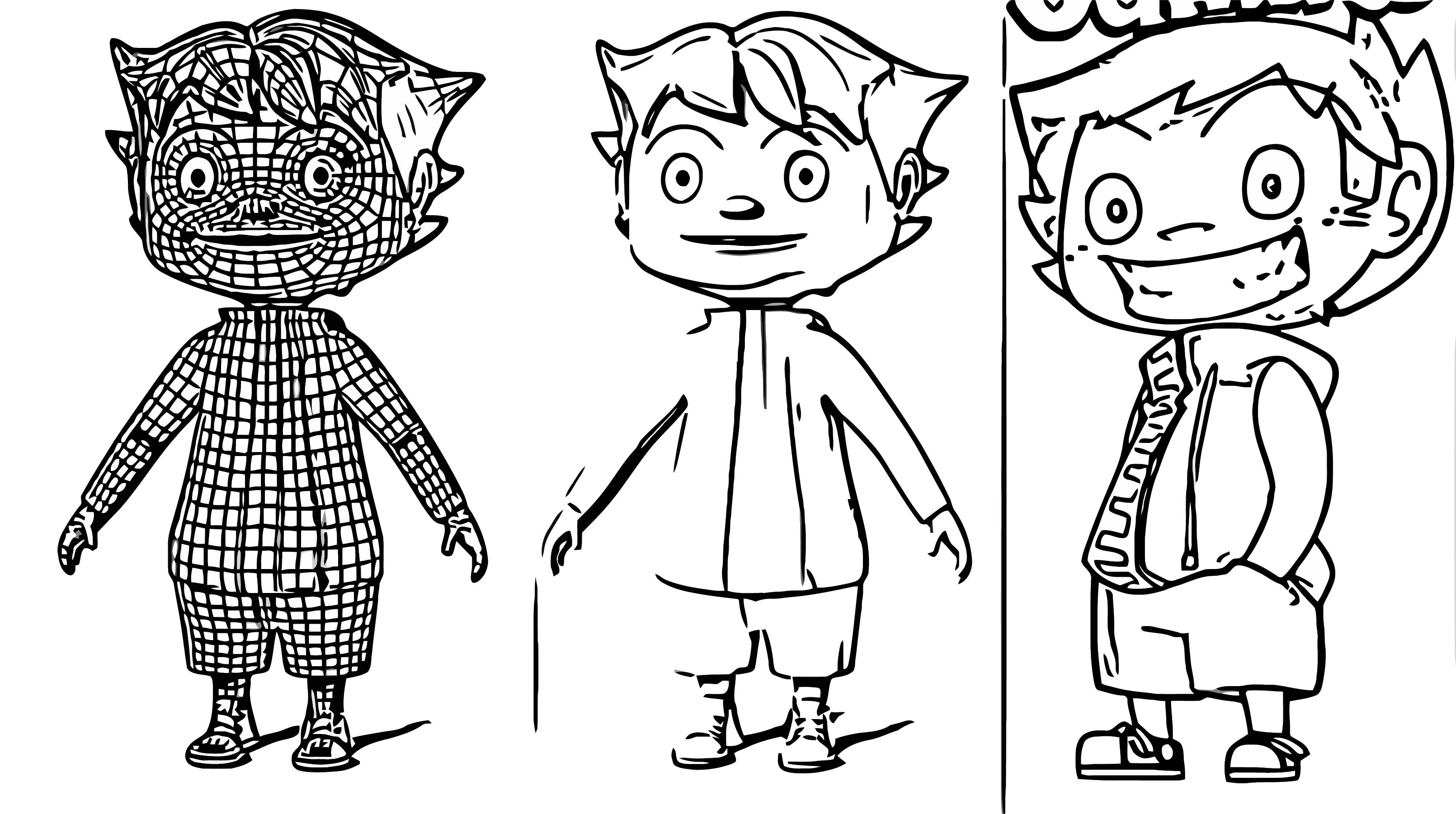 Jaimito With Reference Cartoonize Coloring Page