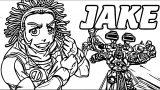 Jake Bakugan Gundalian Invaders Coloring Page