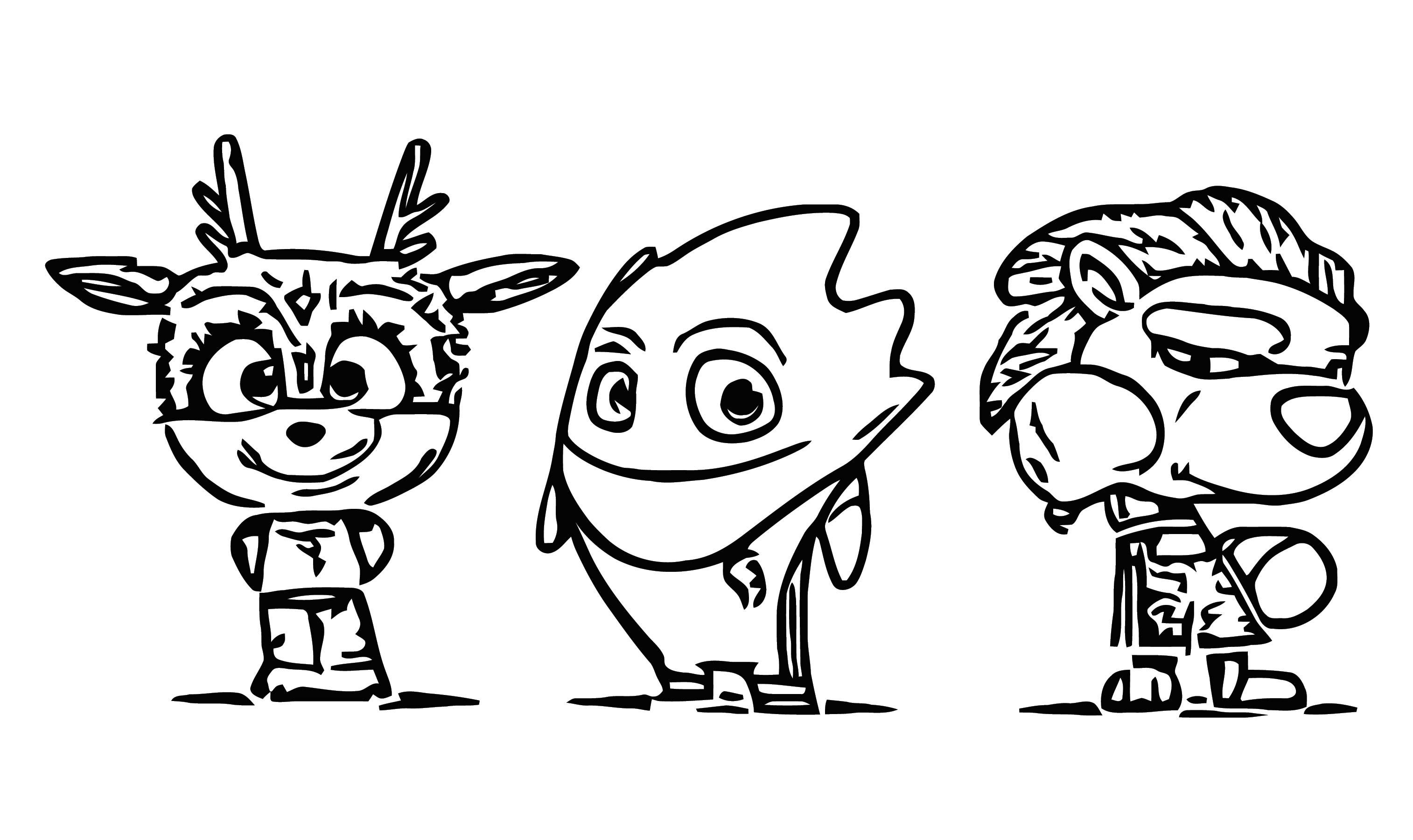 Juegos Panamericanos 3d Character Design 1 Cartoonize Coloring Page