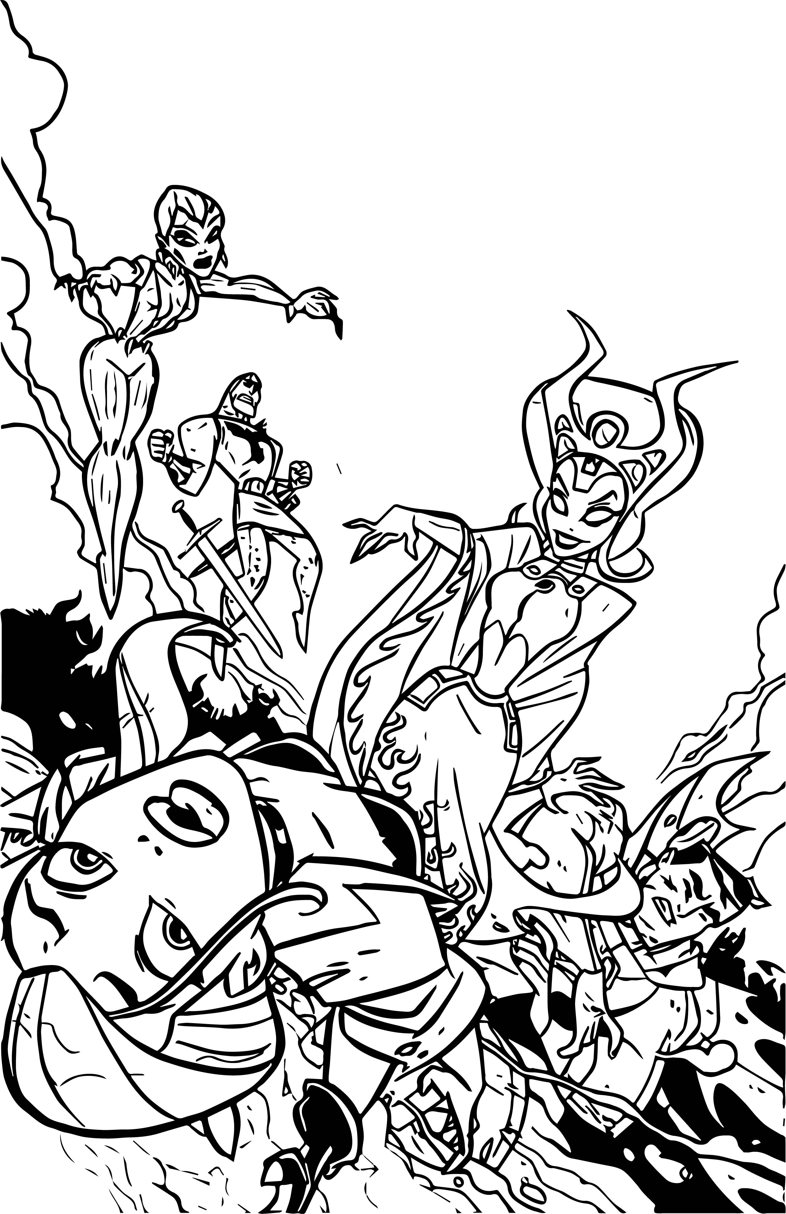 Justice League Coloring Page WeColoringPage 44