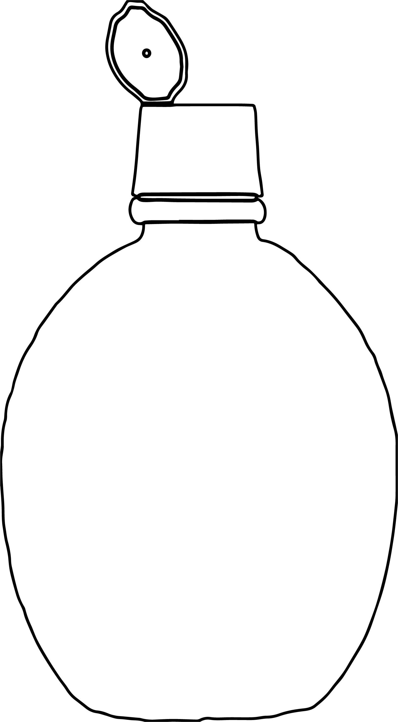 Lemon Juice Bottle Coloring Page